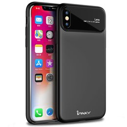 Wholesale thin black stockings - iPaky Case For iPhone X Ultra Thin PC Back Cover+Drop-proof Shockproof Hard Glass Cases With Retail Package In Stock