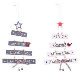 Ahşap Merry Christmas Ağacı Dekor Klasik Fotografik Sahne Festivali Ilmek Çan Renk Mektubu Kolye Malzemeleri Sıcak Satış 6hb Ww cheap christmas props for sale nereden satılık yılbaşı pervazları tedarikçiler