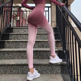 pantalones relajados de yoga Rebajas Nueva elástico Gimnasio Medias Energía control del estómago Yoga Pantalones de talle alto Deporte de polainas de los pantalones de yoga