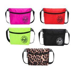 Wholesale Fashion Beach Bags - Pink Fashion Pouch Packs Outdoor Waterproof Waist Belt Bag Love Cosmetic Bag Fashion Handbags Purses Beach Pink Phone Bags KKA4828