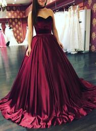 velvet images Australia - 2018 Modern Sweetheart A-line Elastic Satin Court Train Prom Dresses Summer Sleeveless Formal Evening Gowns Real as Image Vestido de Fiesta