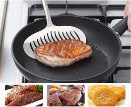 2019 restaurantes de peixe Turners de Aço Inoxidável Cozinha Cozinhando Ferramentas Ampliada Fish Steak Meat Turner Para Restaurante Utensílios De Cozinha LZ1003 restaurantes de peixe barato