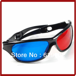 Wholesale Dvd Movie Wholesalers - OOTDTY Sale 2pcs Red & Blue Cyan Anaglyph 3D Glasses for Movie Game DVD Free Shipping + Drop Shipping
