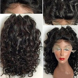 Wholesale Wig Light Brown Blonde - Free Shipping Beautiful 1b# 6# Black Brown Deep Curly Wigs with Baby Hair Heat Resistant Glueless Synthetic Lace Front Wigs for Black Women