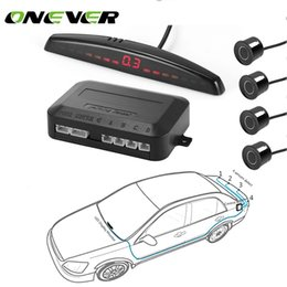 Wholesale auto parking kit - Onever Universal Car Auto Parktronic Parking Sensor With 4 Sensors Reverse Backup Car Parking Radar Kits Monitor Detector System