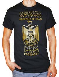 2019 camicie a marchio scontate Maglietta all'ingrosso di sconto Tee Shirt Harajuku Harajuku Marca Spot15 Maglietta Republic Of Iraq maschile camicie a marchio scontate economici