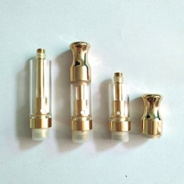 Wholesale update gold - Gold Th205 TH210 ceramic coil update M6T05 O Pen eCig Metal mouth Glass Atomizer .5ml 1ml Wickless Cartridge fit 510 M3 buttonless battery
