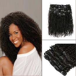 Ali Magic 2019 Nouvelle Mongol Afro Kinky Bouclés Clip Dans Extensions de Cheveux 4B 4C 100% Naturel Extensions de Cheveux Humains 120g 7 Pcs ? partir de fabricateur