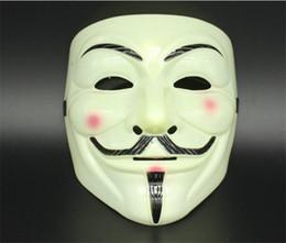 Decorazioni di pallacanestro di valentine online-5pcs V Maschera Mascherata Maschere Per Vendetta Anonymous Valentine Ball Decorazione Party Full Face Halloween Super Scary Maschera Party G290