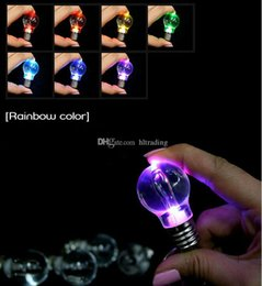 Кольцевые луковицы онлайн-Красочные светодиодные светящиеся мини лампы Факел брелок светодиодный брелок лампа кулон для детей Хэллоуин подарок C2499