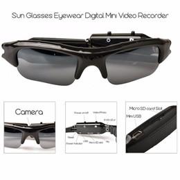 Occhiali da sole del pattino online-HD Mini Eyewear Occhiali da sole Videocamera portatile Videoregistratore audio Mini Videocamera Sport DV Videocamera digitale nascosta Videocamere da skate Skate