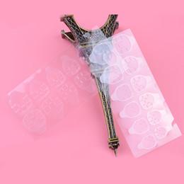 Plastica flessibile trasparente online-adesivo 20pcs / lot Chiaro adesivo doppio lato adesivo trasparente in plastica flessibile 240 punte suggerimenti falsi adesivo colla per unghie