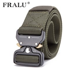 FRALU Equipaggiamento militare Knock Off Army Belt da uomo Heavy Duty USA soldato Combat Tactical Belt Robusto cinturino in nylon 100% D18103006 da