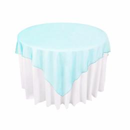"""Argentina 72 """"X72"""" Mantel de organza transparente para fiestas de mesa para bodas Día de San Valentín Restaurante del hotel Superposiciones de mesa de tela Suministro"""