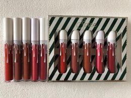 Wholesale Christmas Sugar - Christmas Kaily Love Sugar Spice 5pcs set Matte Shimmer Lipstick Lip Gloss 5 colors Liquid Lipgloss Beauty Cosmetics Dropshipping