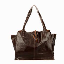 2019 sacs à main en cuir bleu ciel Nouveau Sac à main en cuir pour femme Sac à main en cuir marron Sac à bandoulière en cuir Personnalité Grande capacité