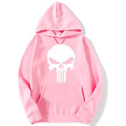Suéter del cráneo de los hombres online-Punisher de los deportes de los hombres Punisher impreso Sweatershirt Sweater de manga larga con capucha 5 colores Jersey de la chaqueta para la ropa de deporte al aire libre