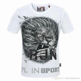 Wholesale Lion Head Men T Shirts - retro Brand Luxury Famous Men's T-shirts Man Tees Tiger Lion head Sports Equipment short-sleeve Diamonds Designer 3D printed RJN cotton