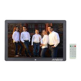 """Оптовая 17 """"LED Цифровая фоторамка 1440 * 900 Высокое разрешение 1080P Рекламная машина Часы MP3 MP4 ж / Пульт дистанционного управления Подарки от"""