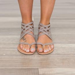 Klug Sandalia Feminina Gladiador Rom Sandalen Frau Flip-flops Leder Verband Flache Schuhe Böhmen Strand Hausschuhe Alias Mujer 2019 Schuhe Frauen Sandalen