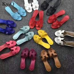 2018 frühling sommer shoesfashion multicolor flache ferse sandalen wort cool hausschuhe freizeitschuhe streetwear damen flache hausschuhe von Fabrikanten