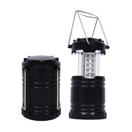 Wholesale Lights For Camper - Hot sell LED Camping Back packing Lantern Emergency Lamp tent light bulb Collapsible for Camper Hiking Tent Hand Outdoor Light