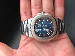 Wholesale nautilus steel - Best Quality Luxury Sapphire Wristwatches 40mm Nautilus 5711 1A Mechanical Transparent Automatic Movement Self-wind Men's Watch Watches