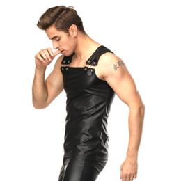 Wholesale Pvc Vest - SEXY PVC MEN T SHIRT EROTIC GIMP GAY VEST SUSPENDERS FETISH CLUBWEAR FANCY DRESS L943 mlxlxxl