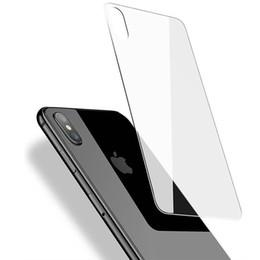 Para iPhone X Protector de pantalla trasera Película de vidrio templado Ultra delgado Claro a prueba de golpes Anti Fingerprint 0.3mm 9H Película posterior desde fabricantes