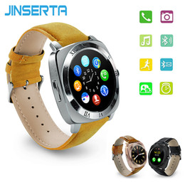 Wholesale Fitness Hours - JINSERTA X3 Mp3 Player Bluetooth Smart Watch Pedometer Fitness Clock Camera SIM Card Relogio Masculino for Android Watchphone