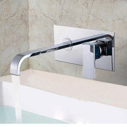 Wholesale Valve Plates - Concealed Bathroom Faucet Basin Sink Faucets With Embedded Box Chrome Finished Brass Mixer Water Taps Hot Cold Control Valve