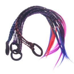 Детская оплетка онлайн-New Fashion Headband Girls Twist Braid Rope Simple Rubber Band Hair Accessories Kids Wig