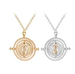 """Wholesale free time clock - 2018 New style """"Time Converter"""" sand clock earring necklace pendant collarbone chain for girl nice gift free ship"""