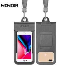 2019 caso reflexivo iphone Universal 4.0 a 6 Polegadas À Prova D 'Água Telefone Bags Dry Pouch para iPhone Samsung Huawei Capa de Mergulho Resistente À Água Do Telefone Caso