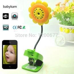 Wholesale Ip Electronics - Babykam Flower wifi baby monitor ip camera IR Night vision baby camera baba electronics wifi monitors support iOS Android