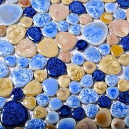 2019 mosaico mediterrâneo Direto da fábrica mediterrâneo vitrificada telha de mosaico de cerâmica para o banheiro showroom tijolo da parede da piscina, telha de assoalho, 70 anos cor duradoura desconto mosaico mediterrâneo