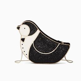 2019 sacchetti di pinguino del fumetto Simpatico cartone animato pinguino borse per le donne Divertente bella borsa a tracolla animale Moda femminile piccola catena cellulare Bag Ladys 'Party sacchetti di pinguino del fumetto economici