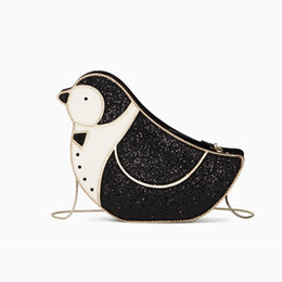 2019 lindos celulares pequeños Cute Cartoon Pingüino Bolsas Para Las Mujeres Divertido Precioso Animal Bolsa de Hombro Moda Pequeña Cadena Del Teléfono Celular Bolsa de Fiesta de Ladys lindos celulares pequeños baratos