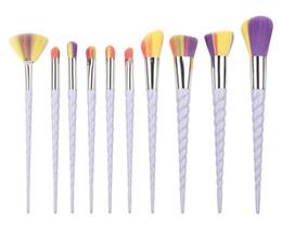 Wholesale Brush Styles - SAMPLE 1SET IN STOCK! New Makeup Brush Set Foundation Brush Eyeshadow Brush kit 10pcs set 3 Style Free Shipping
