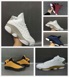 Wholesale Athletic Rubber Bands - 2018 New Mens womens Basketball Shoes Air Retro 13 Bred Black True Red Discount Sports Shoe Athletic Running shoes Best price Sneakers