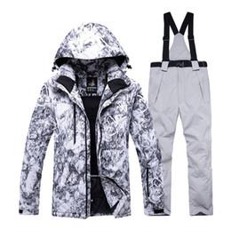 Canada -30 haute qualité hommes costume de ski définit vêtements de snowboard professionnel imperméable au vent vêtements d'hiver costumes veste blouson pantalon cheap snow pants Offre