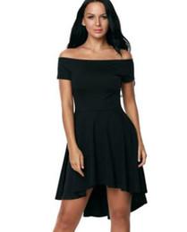 Wholesale Европейская и американская мода сексуальный воротник с коротким рукавом перед словом после длинного платья