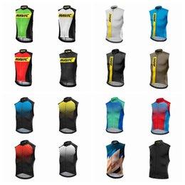 Wholesale Pro Choose - MAVIC team Cycling Sleeveless jersey Vest pro team mtb men's vest Can Choose any size color Accept custom cycling clothing Q42039