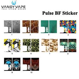 2019 autocollants vape pour mods Original Vandy Vape PULSE BF MOD Autocollant de Remplacement Compatible avec E-Cigarettes VandyVape PULSE BF Boîte MOD Vape autocollants vape pour mods pas cher
