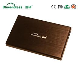 Soporte Blueendless de aluminio Capacidad de lectura de 1TB Disco duro portátil Estuche 2.5