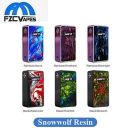 Wholesale original buttons - 100% Original Snowwolf 200W R Touch Button Box Mod Resin Edition Max 235W E Cigarette Vape Mod 6 Resin Color Edition Authentic Vape