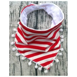 Wholesale Triangle Scarf Tassels - Infant Baby Bibs Saliva Towel Burp Cloths Children Feeding Care Double Layer Lace Tassel Slobber Bandana Cartoon Triangle Scarf