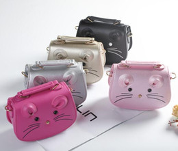 Wholesale mouse cross - 16*12CM PU Girls Bags Cartoon Mouse Cross bag Handbags Children Accessories Messenger bag Gift BB004