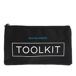 instrument kits Promo Codes - Waterproof Tool Kit Bag 600D Oxford Cloth Tool Bag Zipper Storage Instrument Case 19x11cm