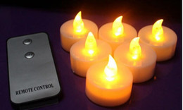 Wholesale Led Tea Light Flickering - LED Candles Tea Light Flameless Flickering Party With Remote Control